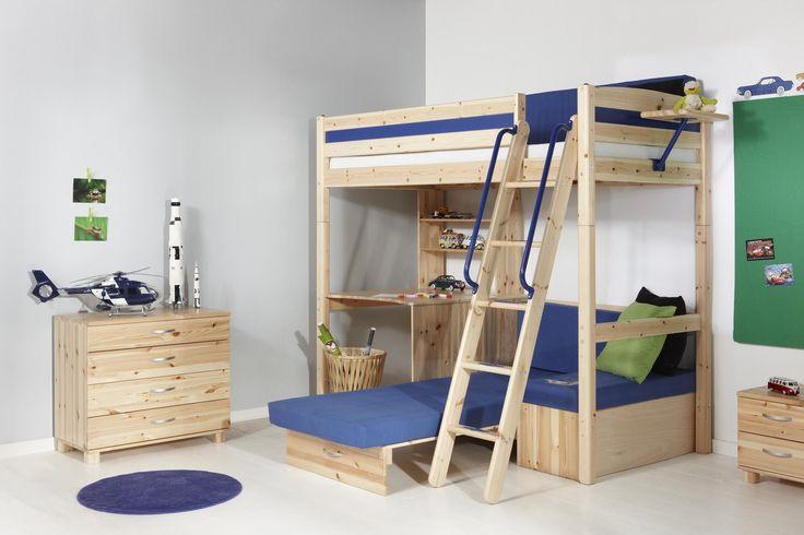 25 beste idee n over tiener loft slaapkamers op pinterest tiener hoogslapers tiener - Hoogslaper tiener met kantoor en opslag ...