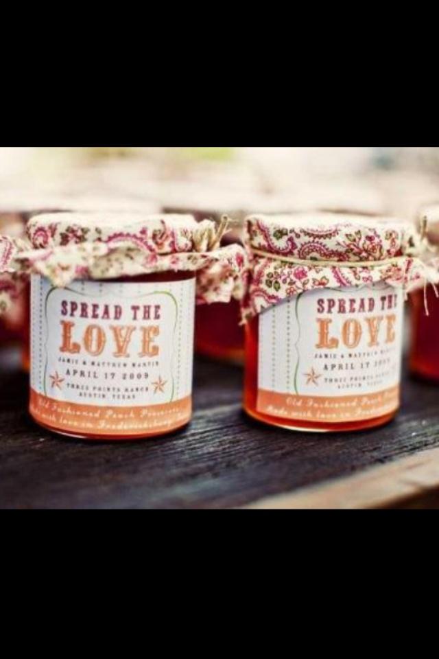 Bomboniere idea. Spread the love.