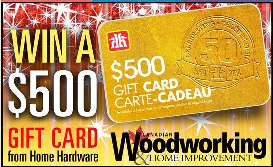 Gagnez une Carte cadeau Home Hardware de 500$ - Quebec echantillons gratuits
