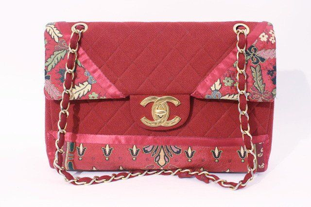 Vintage Chanel jumbo flap bag at Rice and Beans Vintage