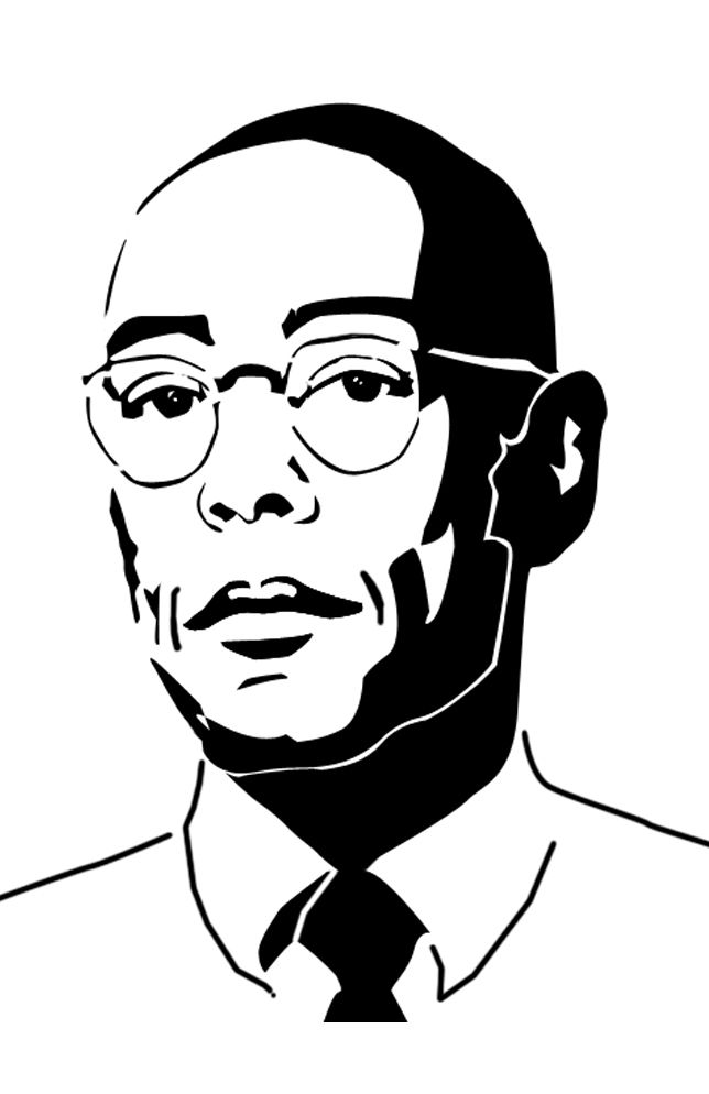 Gustavo Fring (Breaking Bad) Stencil by cytherina