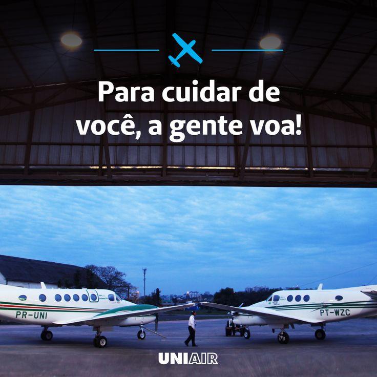 O tempo pode influenciar no tratamento de um paciente. Por isso, estamos 24h prontos para atender você! www.uniair.com.br