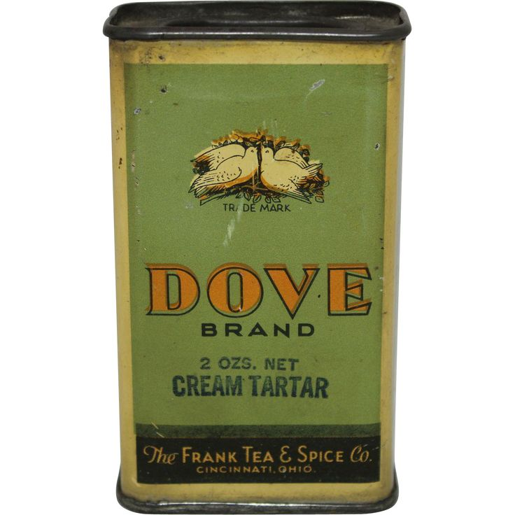 "Vintage ""Dove Brand"" Tin Spice Container. from thecuriousamerican on Ruby Lane"