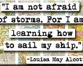 Louisa May Alcott Quote Magnet. $4.00, via Etsy.