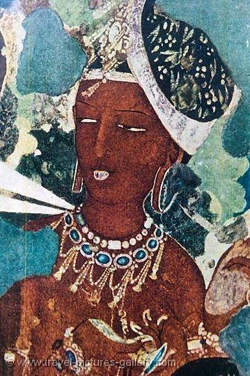 Painting at the Ajanta Caves