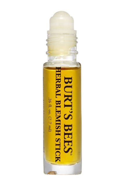 SOS (Save Our Skin!) The softer answer to salicylic acid, Burt's Bees Herbal Blemish Stick targets spots and inflammation to deliver clear skin with a gentle yet fast-acting blend of tea tree oil, willow bark, and calendula.   Burt's Bees Herbal Blemish Stick, $8.99; ulta.com   Read more: Green Stars 2013 - Best Eco-Friendly Beauty Products - ELLE  Follow us: @ElleMagazine on Twitter | ellemagazine on Facebook