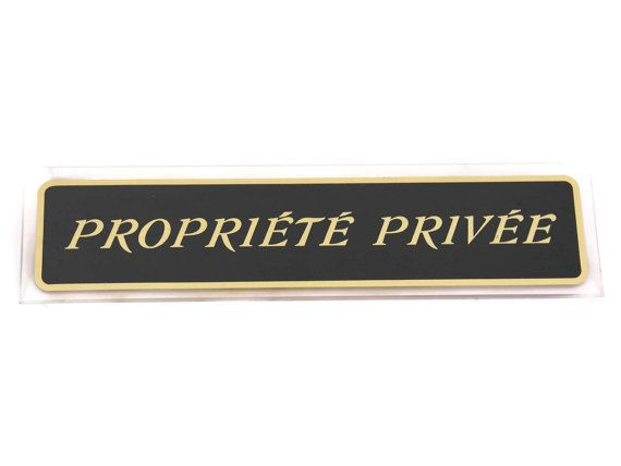 10% Off Vintage Perspex Private Property Wall by LeBonheurDuJour