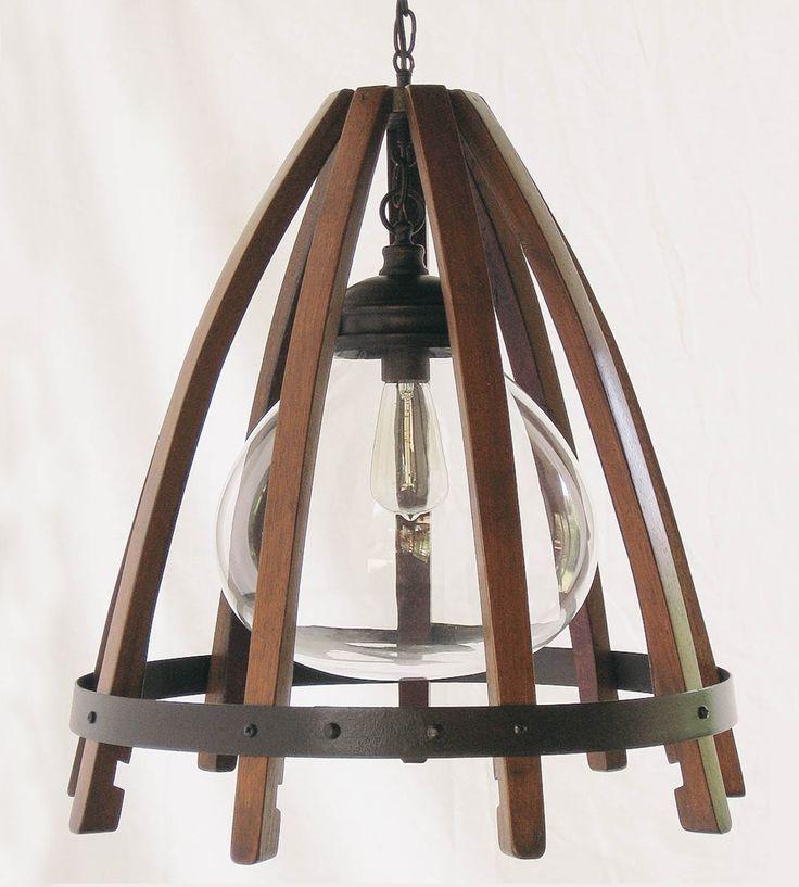 Recycled Wine Barrel Pendant Light | Stil Novo Design | Scoutmob Shoppe » Awesome light!