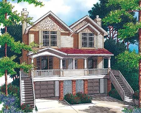 26 best duplex house plans images on pinterest for Duplex beach house plans