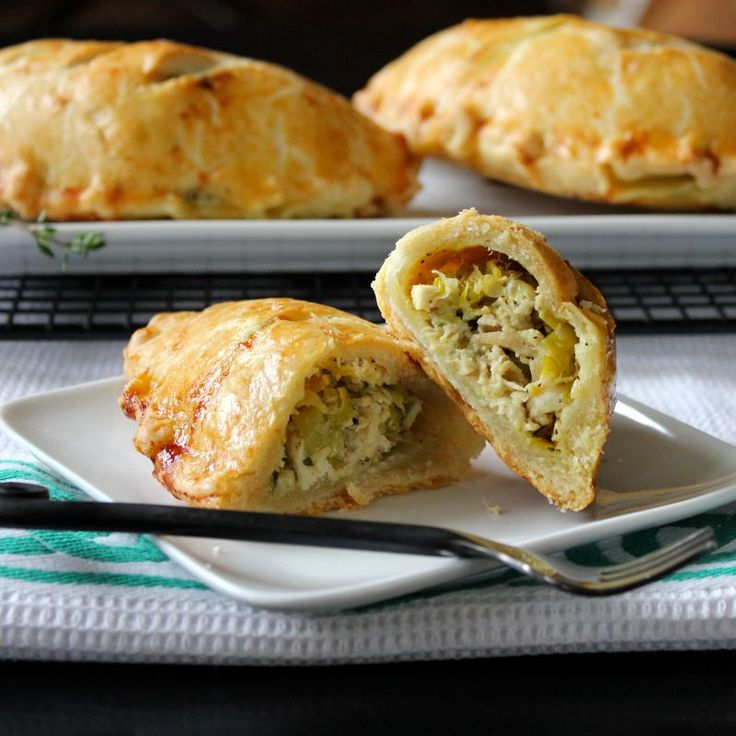 Chicken & Leek Pasties…YUM! The origins of the pasty (pronounced pass-tee) are unclear, but it is most usually associated with Cornwall, England not Ireland. However, I ate my first pasty…