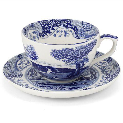Spode - Blue Italian Jumbo Cup & Saucer