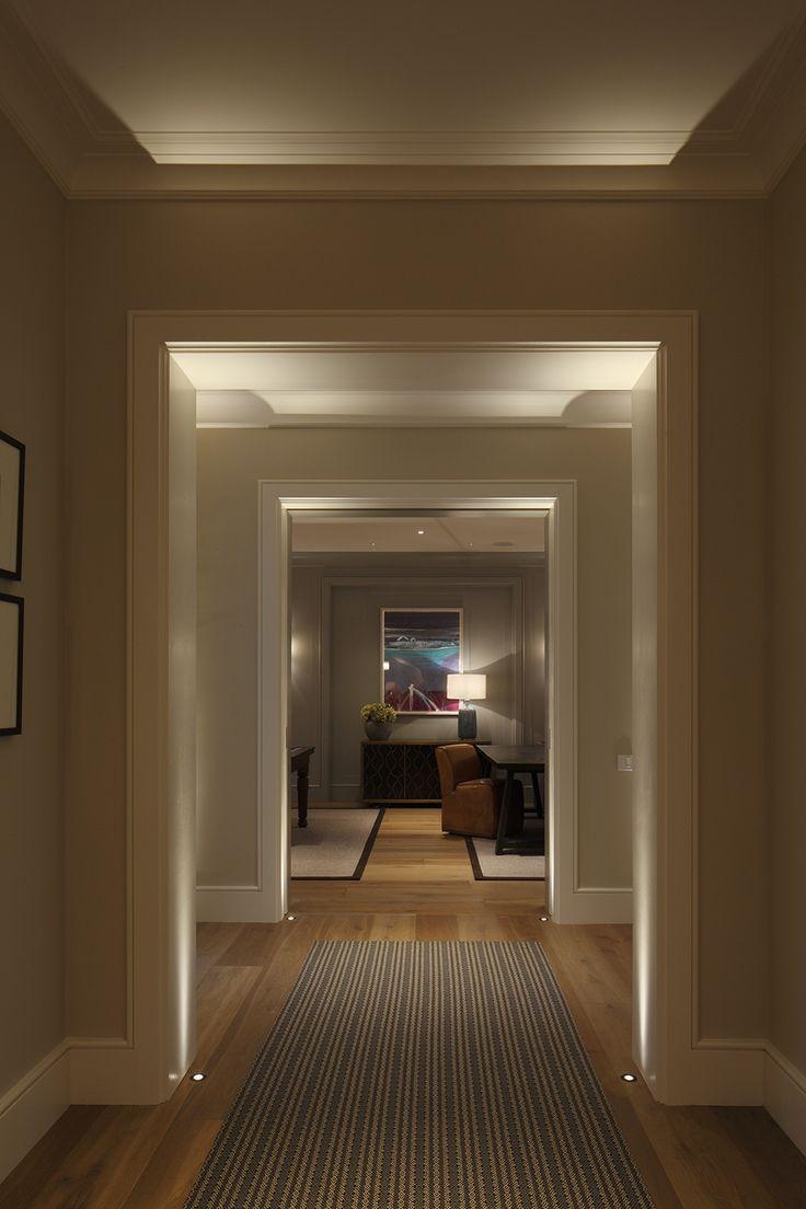 Lighting Basement Washroom Stairs: Corridor Lighting To Lengthen The Space