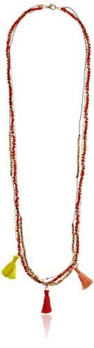 "Long Three-Row Woven Yarn Necklace with Tassel Stations, 36"" Amazon Collection http://www.amazon.com/dp/B00ITH4DSG/ref=cm_sw_r_pi_dp_Spzwwb0HJ6XEN"
