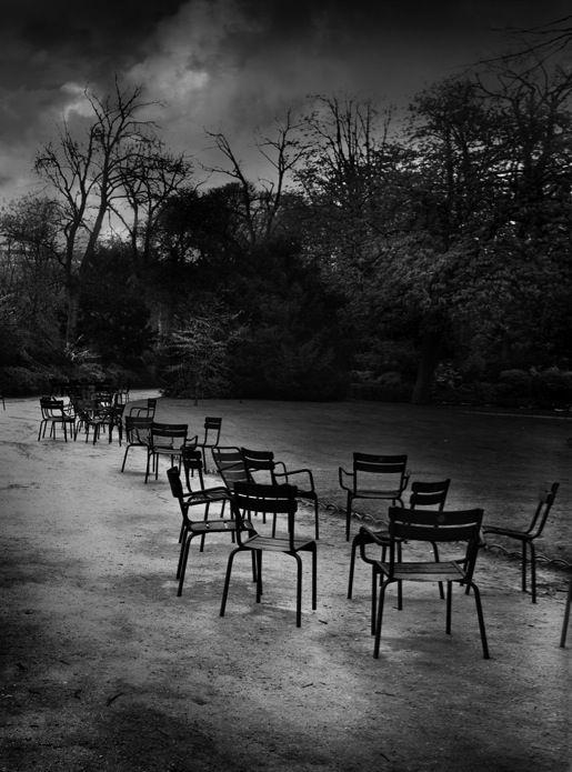 Jean michel berts chaises du luxembourg paris photographyblack and white