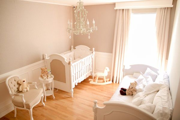 neutral decor and very delicate nursery
