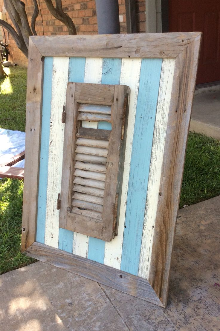 pallet furniture etsy. coastal themed wall display featuring rustic heavy salvaged shutter 180 on etsy pallet furnitureshutter furniture