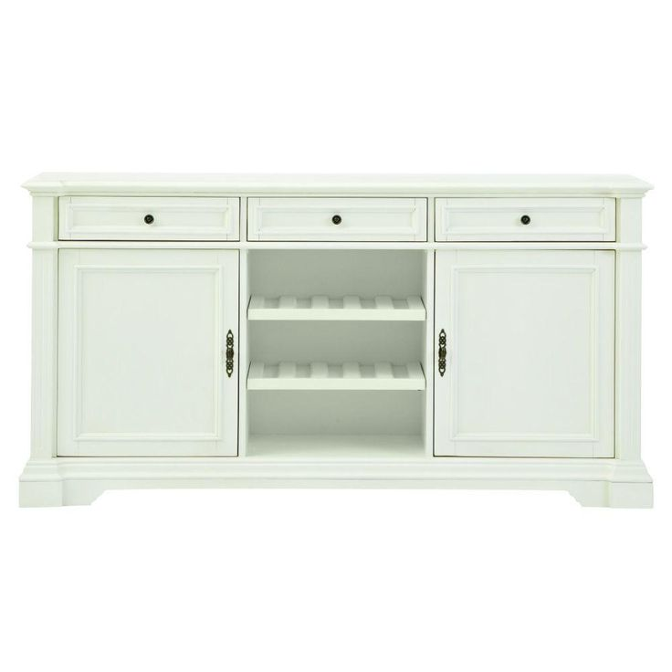 Bufford Rubbed Ivory Buffet Sideboard