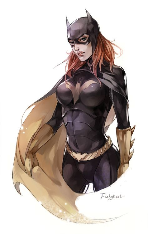 Batgirl by Fishghost  Now just saying   ----   she was my hero , that is if you are old enough to remember what a hero was !!!