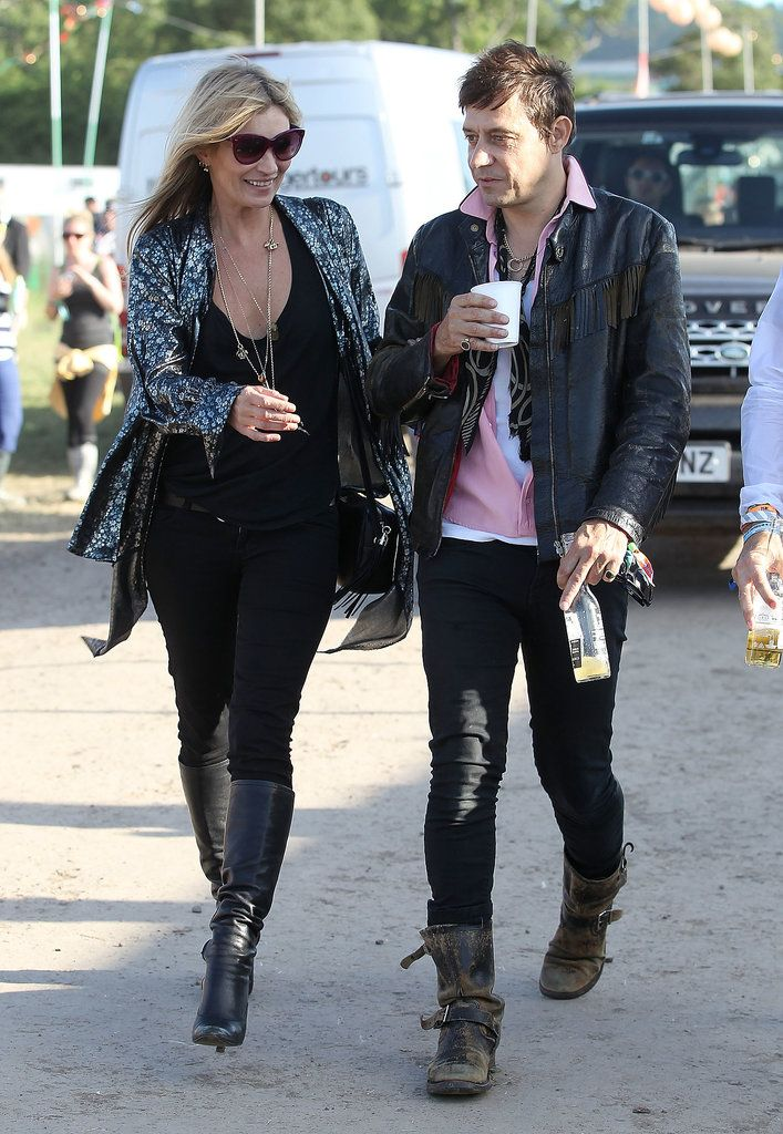 Kate Moss & Jamie Hince at Glastonbury 2013
