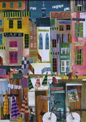 Castonguay - Collages, Jusqu'au bout du monde, Collage 16 X 12 in.