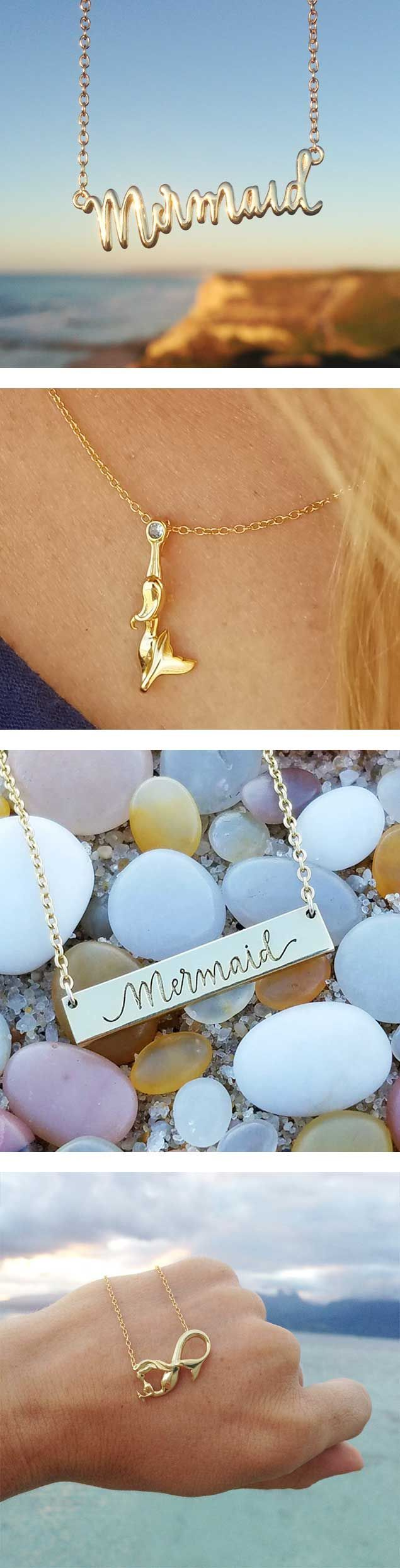 Mermaid necklaces are the perfect gift for anyone who loves mermaids and the sea.