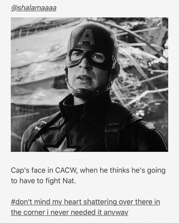 Steve....he is such a kind person...I am sure Civil War destroyed him somewhat since he had to fight some of his team...