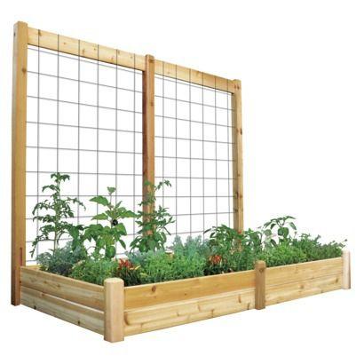 Gronomics Raised Garden Bed with Trellis- DIY?