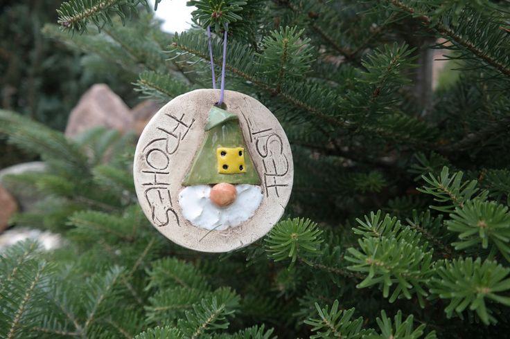 Weihnachten - Frohe Weihnacht-Wichtel grün - ein Designerstück von ThoLiKo bei DaWanda