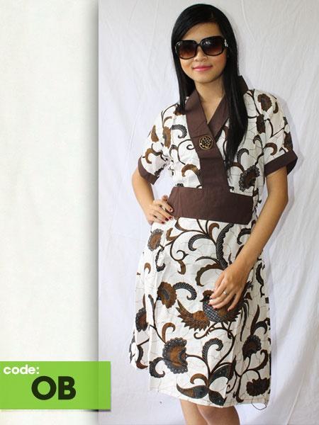 Desain Dress Batik Kombinasi Blazer - Slopok c