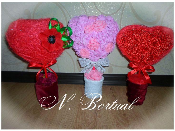 Topiary décoratif de un papier spécial ou de un bandeaux dans un aspect rose : Accessoires de maison par une-pate-salee