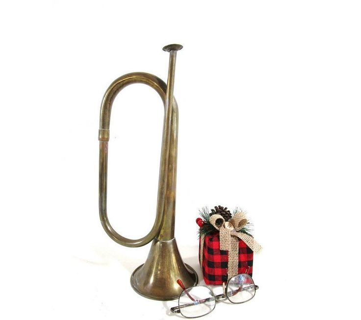 Clarion Brass Christmas 2021 Brass Horn Vintage Bugle Cornet Trumpet Music Musical Theme Etsy Vintage Christmas Decorations Musical Theme Vintage Christmas