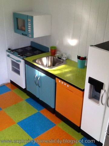 Handmade Playhouse Kitchen & Workshop