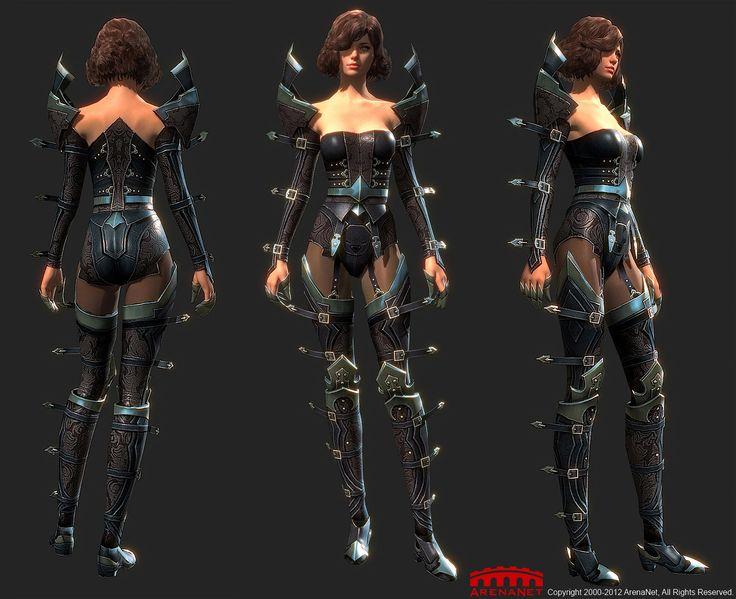 Guild Wars 2 Anime Characters : Female light armor profane guild wars video game art