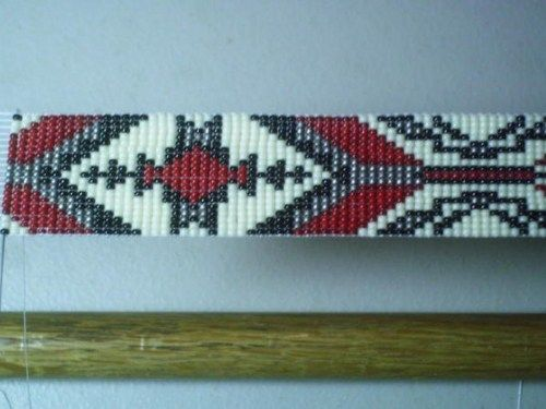 Menominee Native American Beaded Hat Band Design~ Beaded hatband | ajwhatbands - Accessories on ArtFire