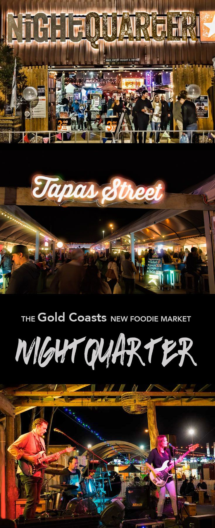 NightQuarter is a night market experience for Foodies on Australia's Gold Coast.  It's a festival every weekend complete with flavours to please every palate and with 20+…