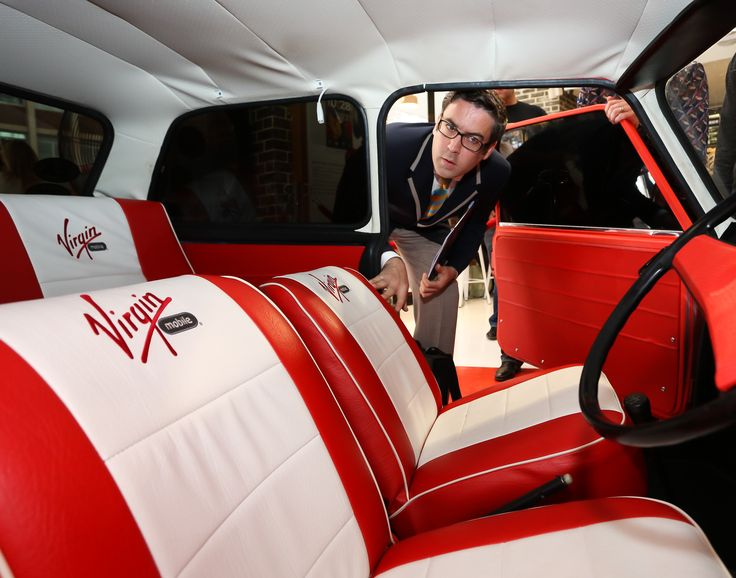 Jack Brockbank inspecting the Classic Mini Cooper before the record was made.