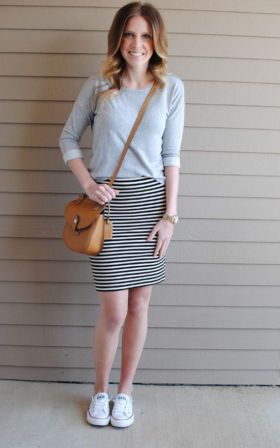Best 25+ Striped skirt outfits ideas on Pinterest | Striped skirts Stripes definition and ...