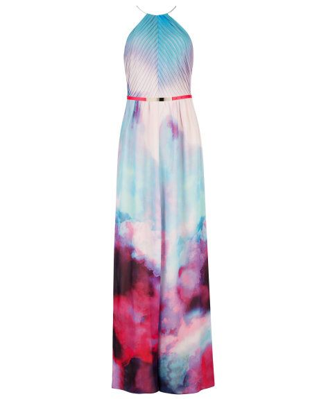 """Summer at dusk printed maxi dress Our model wears a size 2 and is 5'9"""" - Grey 