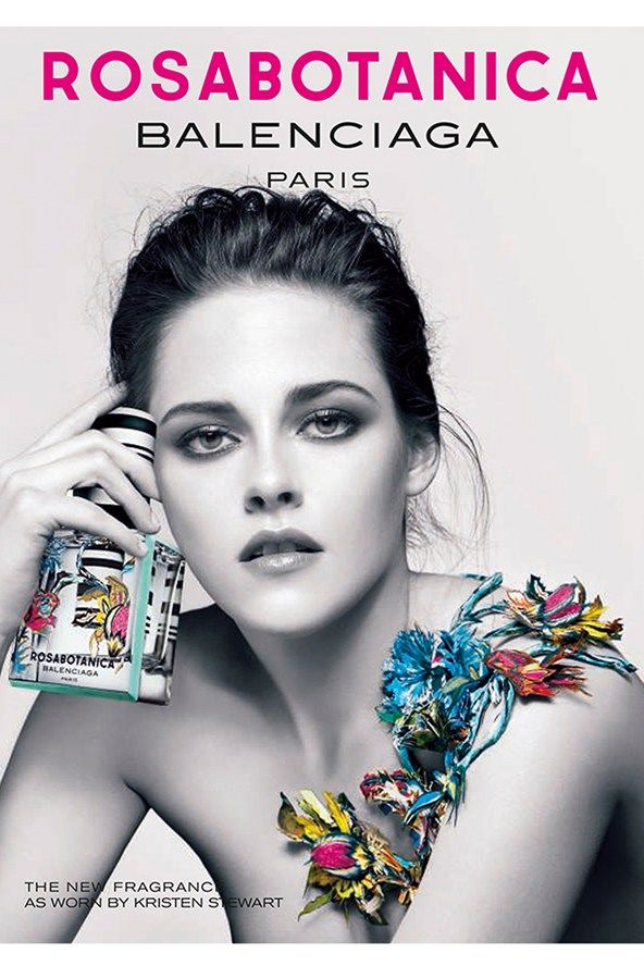 Kristen Stewart stars as the face of Balenciaga's new Rosabotanica fragrance, having already fronted the brand's Florabotanica scent since 2012. Rosabotanica will go on sale on January 29.
