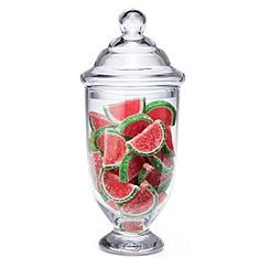 This apothecary jar is perfect for holding candy and anything else that you'll be offering at your reception. #wedding #reception