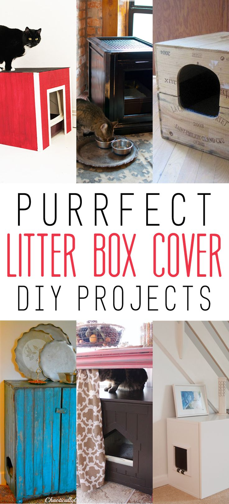 Purrfect Litter Box Cover DIY Projects - The Cottage Market