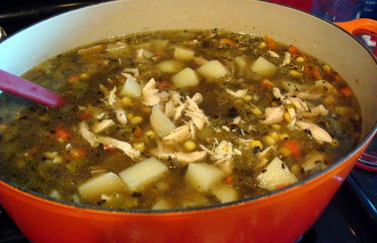 Green Chili Chicken Stew   http://VisitsToMoney.com/index.php?refId ...