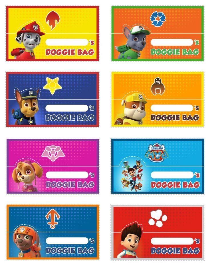 Classroom Birthday Party Treat Ideas ~ Free printable paw patrol food labels invitation