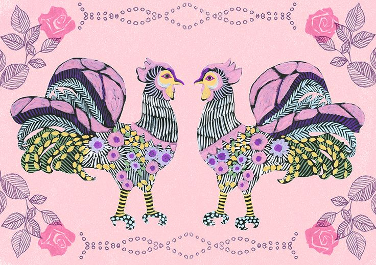 #広告 #花 #flower #デザイン #お洒落 #可愛い  #illustration #kanakobayashi #art #illust #パッケージ #pattern #柄 #模様 #animal #bird #鳥