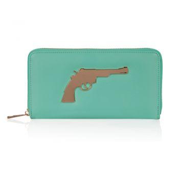 Gun Wallet van Josh V, aqua