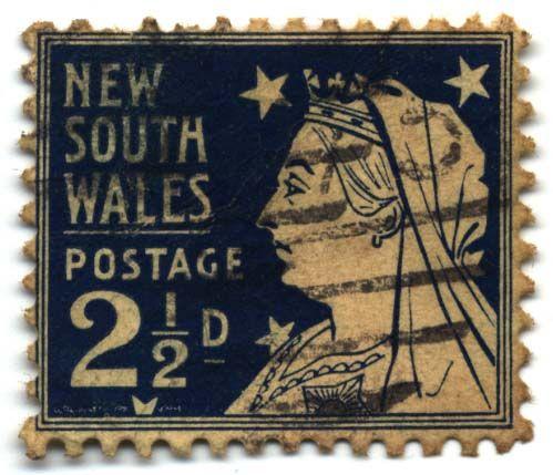 Early Australia postage stamp