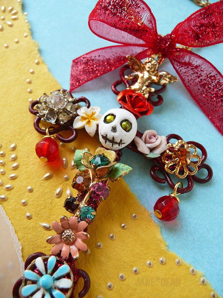 Day of the dead cross ornament by ~janedean on deviantART