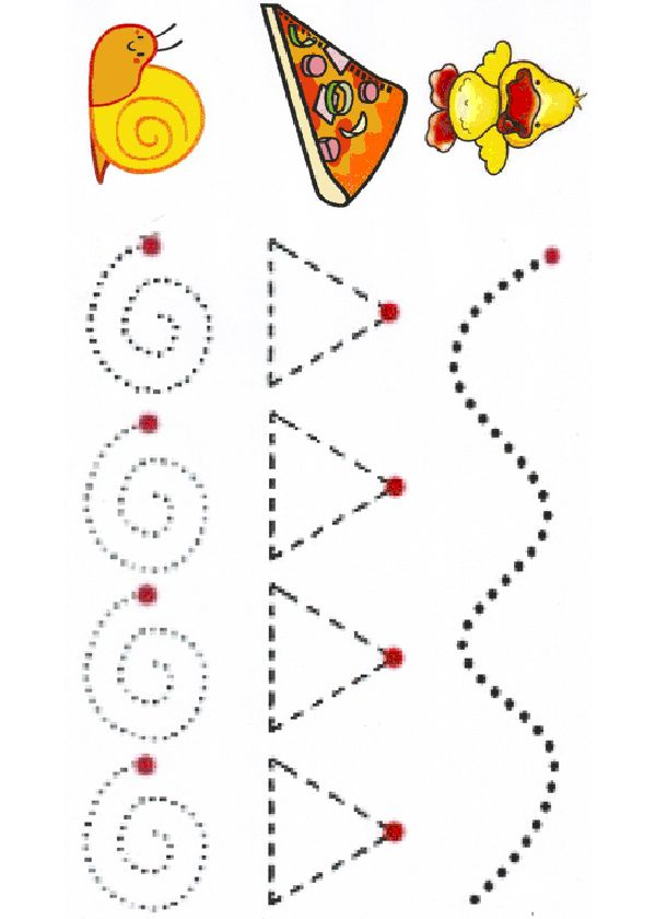 Activités imprimables Coups de base graphomotrices. http://www.activitesprescolaire.pequescuela.com/activites-prescolaire-imprimer-lignes10.html