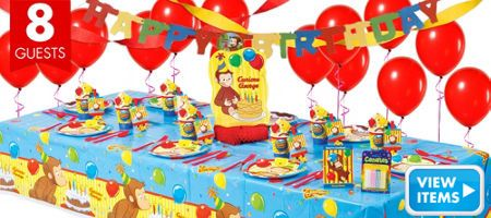 Curious George 1st Birthday Party Supplies - Party City