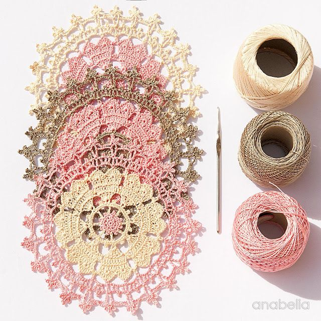 Valentine's Day crochet doily More
